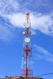 Telecommunications tower against blue sky Royalty Free Stock Photo