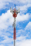 Telecommunications tower with antennas Stock Photo