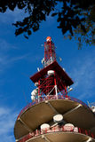 Telecommunications Tower and antennas Royalty Free Stock Photography