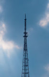 Telecommunications tower. Royalty Free Stock Images