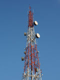 Telecommunications tower with a blue sky Stock Image