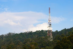 Telecommunications tower Royalty Free Stock Photos