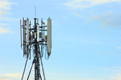 Telecommunications tower cells for mobile Stock Photography