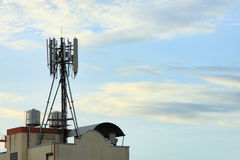 Telecommunications tower cells for mobile Stock Photo