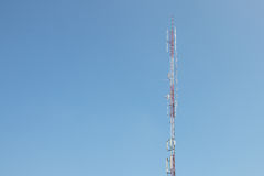 Telecommunications tower cells for mobile. Royalty Free Stock Images
