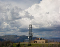 A telecommunications tower in colorado Royalty Free Stock Photo