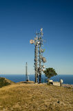 Telecommunications tower landscape Stock Photo