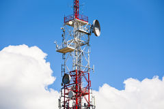Telecommunications tower. Royalty Free Stock Photo