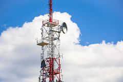 Telecommunications tower. Stock Photography