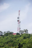 Telecommunications tower. Radar and Communication Tower Royalty Free Stock Photography