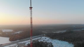 Telecommunications tower in rural areas