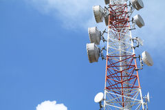 Telecommunications tower - Series 3 Royalty Free Stock Photography