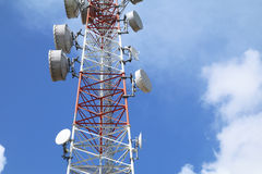 Telecommunications tower - Series 4 Royalty Free Stock Photos