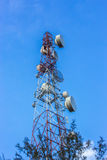 Telecommunications tower sky Royalty Free Stock Photography