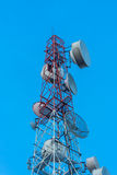 Telecommunications tower sky Stock Photos
