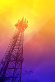 Telecommunications tower in soft color Royalty Free Stock Photos