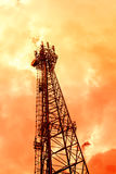Telecommunications tower in soft color Stock Photo