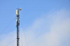 Telecommunications tower for the transmission of radio waves Stock Photography