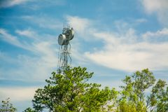 Telecommunications tower Transmission tower or  Television tower Stock Images