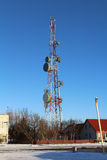 Telecommunications Tower. Used to distribute audio and video signals around a communications network Stock Photography