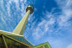 Telecommunications tower xian china Stock Photo