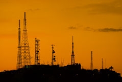 Telecommunications towers. Stock Photography