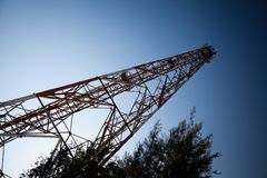 Telecommunications towers Stock Photo