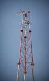 Telecommunications towers. Telecommunications pylons with antenna for TV and mobile phone signals Royalty Free Stock Photography