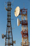 Telecommunications Towers Stock Images