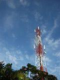 Telecommunications towers, portrait Stock Photo