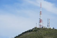 Telecommunications towers Royalty Free Stock Photo