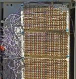 Telecommunictions krzyża pudełka guzek zdjęcia stock