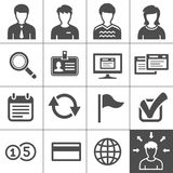 Telecommuting icons set - Simplus series. Telecommuting, remote work and telework icons. Vector illustration. Simplus series Stock Photo