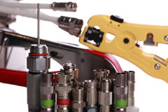 Telecomuniaction equipment used in CATV Stock Photography