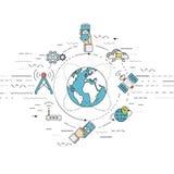 Telecomunicação, conceito móvel da tecnologia Fotos de Stock Royalty Free