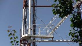 Telecomunicação G/M 5G, 4G, torre da micro-ondas 3G filme