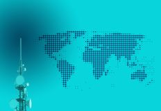 Telecomunicación global Imágenes de archivo libres de regalías