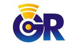 Telecomunicación moderna de GR de la letra Imagen de archivo libre de regalías