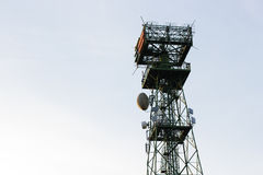 Telecomunicaciones de la antena en Italia Imagen de archivo