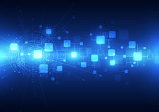 Telecomunicaciones futuras abstractas fondo, ejemplo de la tecnología del vector