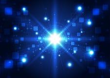 Telecomunicaciones futuras abstractas fondo, ejemplo de la tecnología del vector ilustración del vector