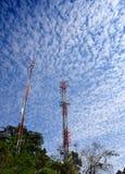 Telecomunicaciones poste fotografía de archivo