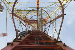 Telecomunicaciones poste Fotos de archivo