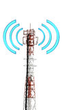 Telecomunication tower with graphic signal Stock Images
