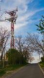 Telecomunication tower. Sky high telecomunication / radio tower Stock Photography