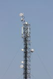 Telecomunications antennas. On a background sky Royalty Free Stock Photography
