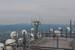 Telecomunications antennas WIFI royalty free stock photos
