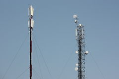 Telecomunications Antennen Lizenzfreies Stockbild