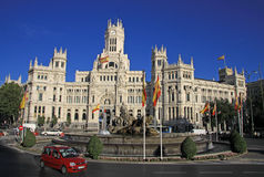 Telecomunications Palace - Madrid City Hall on Cibeles square Royalty Free Stock Photos