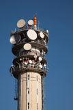 Telecomunications tower. Telecommunications tower for tv and mobile phone signals Stock Photography